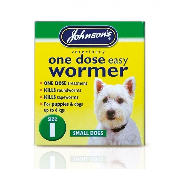 Johnsons 1 Dose Dog Wormer Size 1