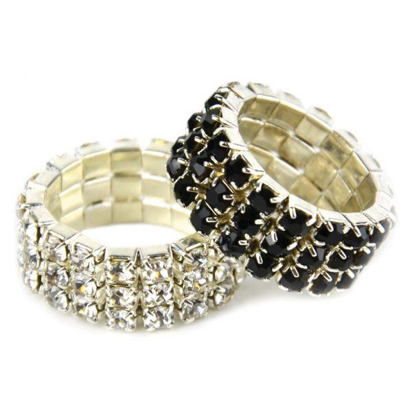 Lincoln Diamante Plaiting Bands