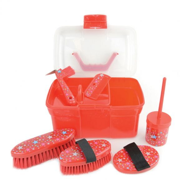 Lincoln Star Pattern Grooming Kit Colour: Red