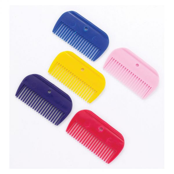 Lincoln Plastic Mane Comb Colour: Red