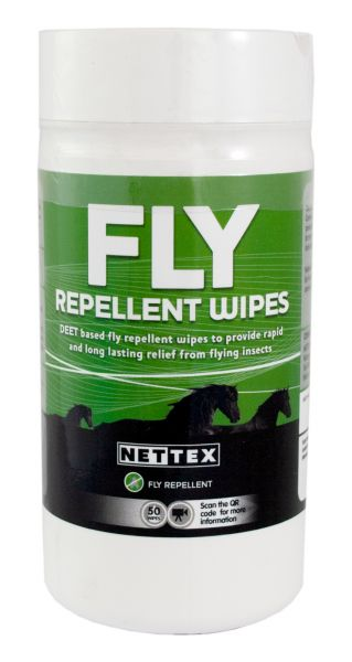 Nettex Fly Repellent Wipes 50 pack