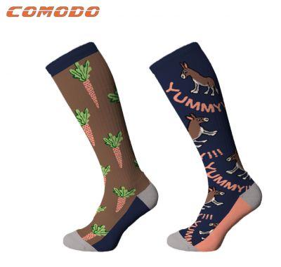 Junior Novelty Donkey Carrots Socks