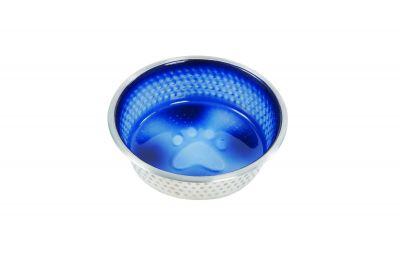 Weatherbeeta Non-Slip Stainless Steel Shade Dog Bowl Royal Blue