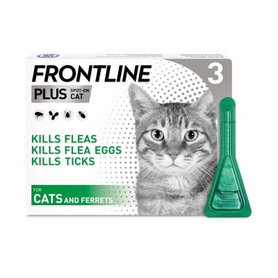 Frontline Plus Spot On for Cats & Ferrets - 3 Pipettes