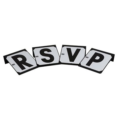 Stubbs Screw On Steel Plates Letters RSVP S652P