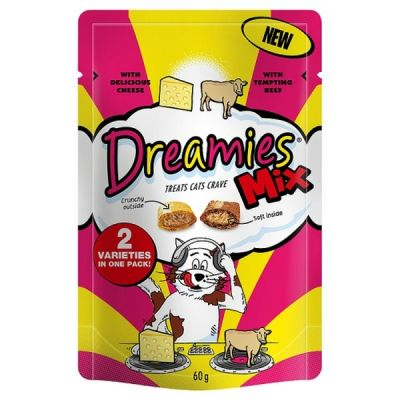 Dreamies Cat Treat Beef and Cheese 60g