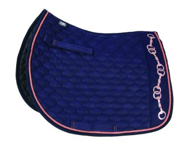 Hy Equestrian Exquisite Stirrup and Bit Collection Saddle Pad