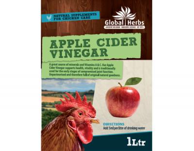 Global Herbs Poultry Apple Cider Vinegar 1ltr