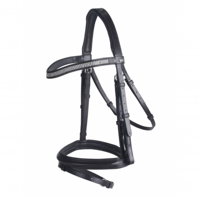 GFS Monarch Crystal Flash Bridle With Rubber Reins