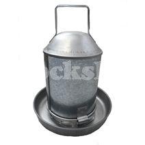 Galvanised Drinker 4.5ltr Size: 4.5ltr