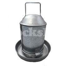 Galvanised Drinker 2.25ltr Size: 2.25ltr