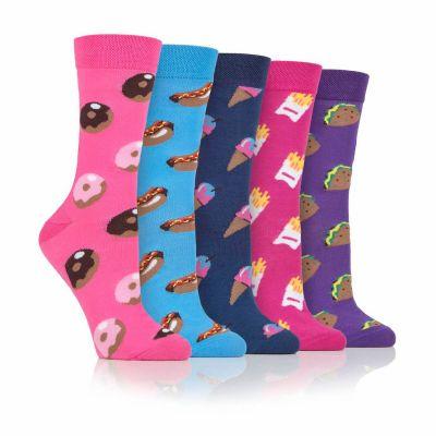 Fast Food 5pk Novelty Socks