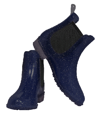 Glitter Sparkle Jodhpur Boot Blue Kids