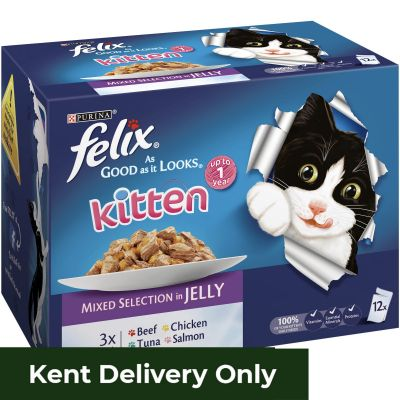 Felix AGAIL Kitten Mixed Selection in Jelly 12 x 100g