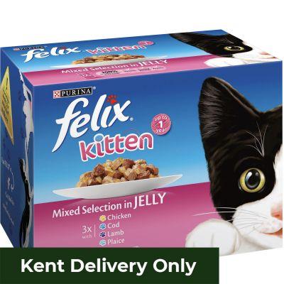 Felix Kitten Mixed Selection in Jelly 12 x 100g