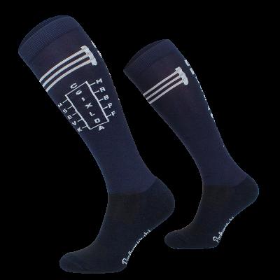 Novelty Adult Navy Fence Socks