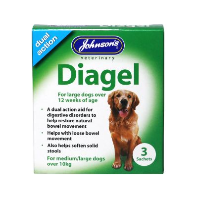 Johnsons Diagel for dogs over 12 weeks over 10kg