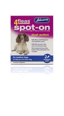 Johnsons 4fleas Spot-On Medium Dog