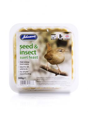 Johnsons Wild Bird Suet Tray Seed & Insect