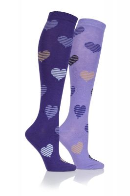 Adult Hearts Long Socks