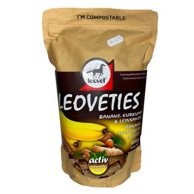 Leoveties Treats Banana, Turmeric & Linseed