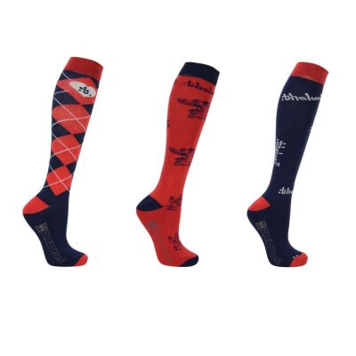 Hy Equestrian Thelwell Collection Socks 3 pack