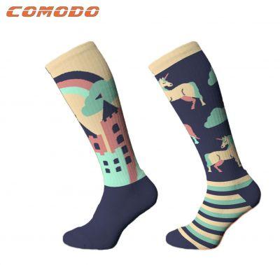 Junior Novelty Unicorn Navy Socks