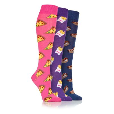 Fast Food 3pk Novelty Socks