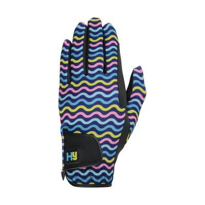 Hy5 Lightweight Printed Riding Gloves Wavy Pattern