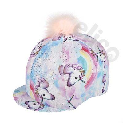 Pastel Unicorn Lycra Hat Silk Cover