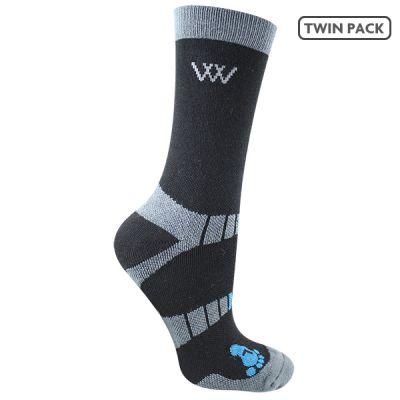 Woofwear Short Bamboo Waffle Riding Socks
