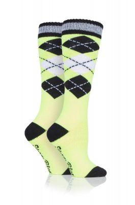 Adult Neon Reflective Long Socks