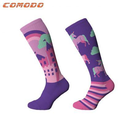 Novelty Adult Unicorn Purple Socks